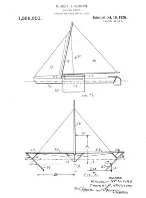Extrait du brevet de Malcom Mc Intyre 1920