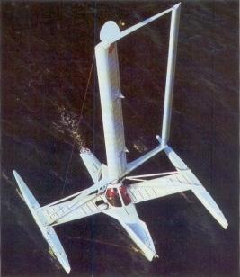 Planesail bateau automatisé - photo revue Bateaux juin 1990